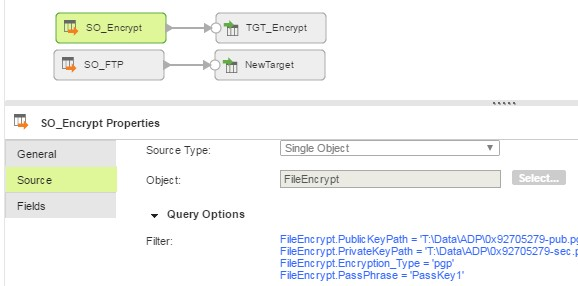 Encrypt and FTP in one Mapping with Piping