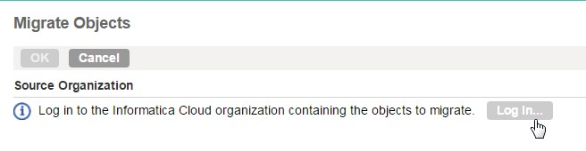 Log into Source Org as Admin
