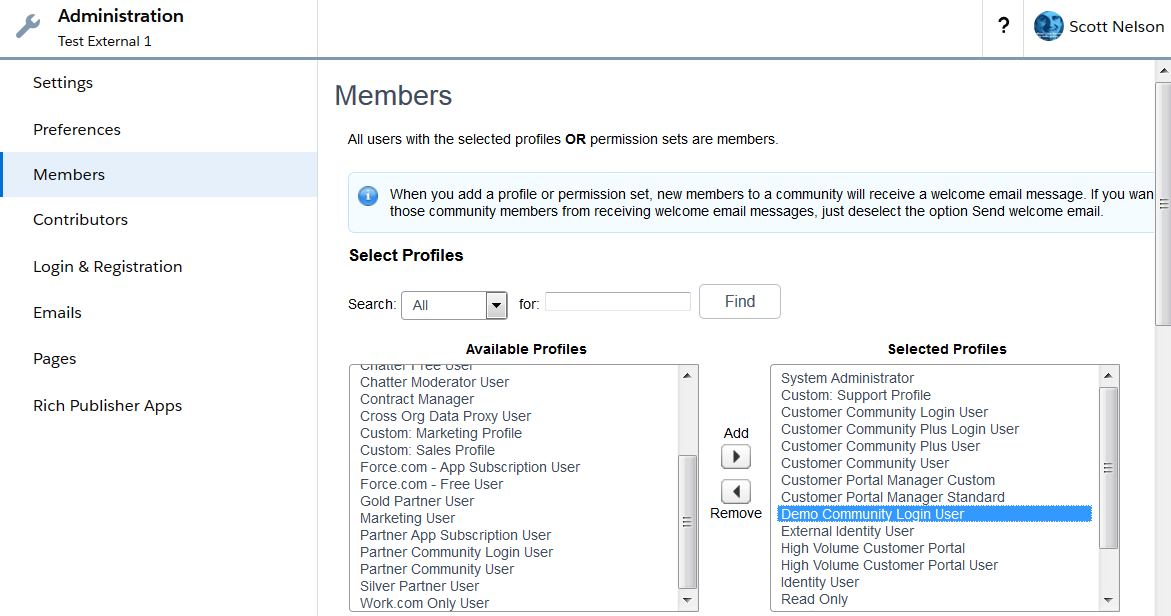 SFDC Community Member Management
